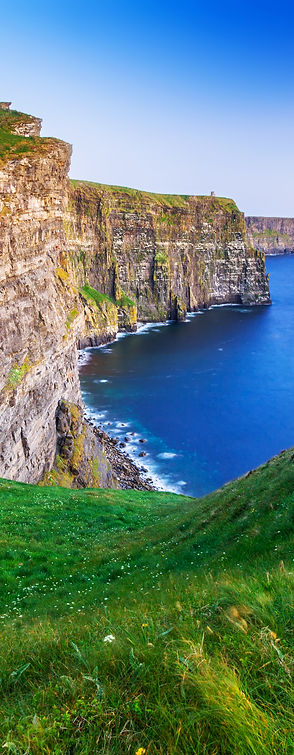 Cliffs of Moher at sunset in Co. Clare,
