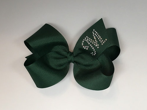 Large Forest Green Initial Bow MC-0012i