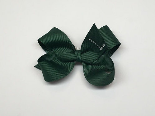 Wholesale Small Forest Green Initial Bow MC-1100i