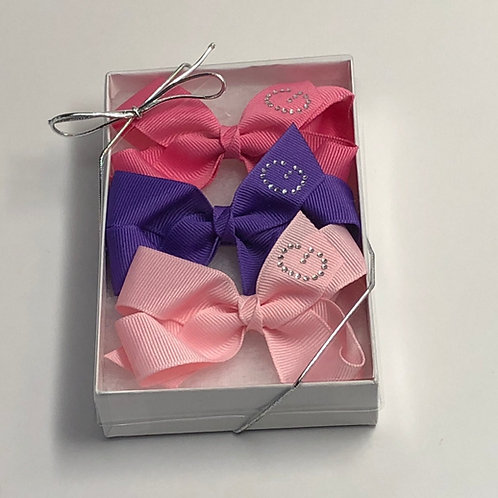 Small Initial Bow Gift Set