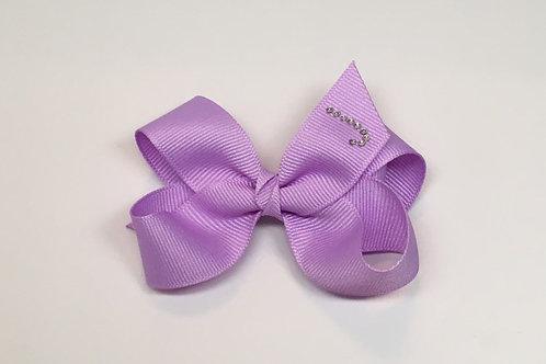 Wholesale Small Lavender Initial Bow MC-1100i