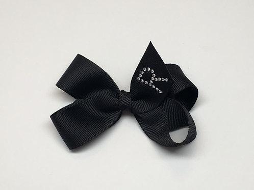 Wholesale Small Black Initial Bow MC-1100i