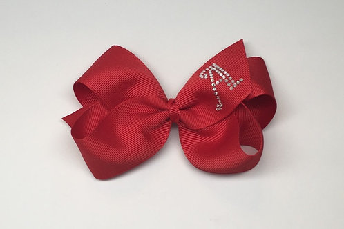 Wholesale Large Red Initial Bow MC-0012i