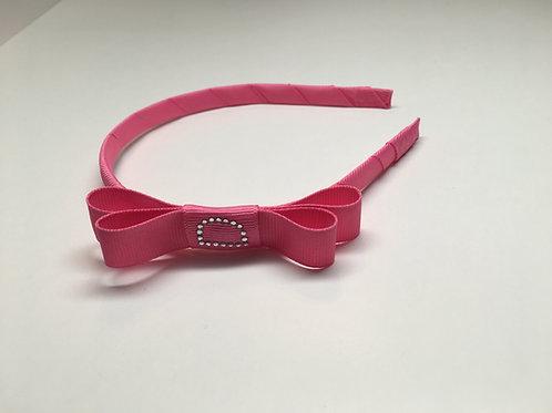 Wholesale Bubble Gum Pink Initialed Headband MC-0008f