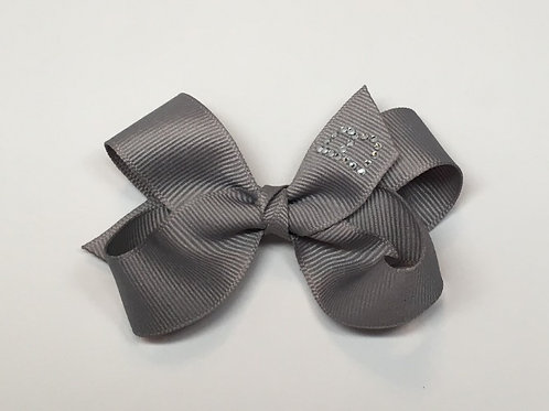 Wholesale Small Light Grey Initial Bow MC-1100i