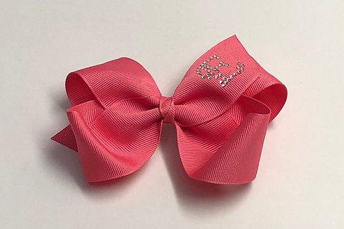 Large Coral Initial Bow MC-0012i