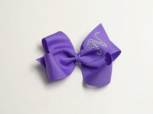 Wholesale Large Purple Initial Bow MC-0012i