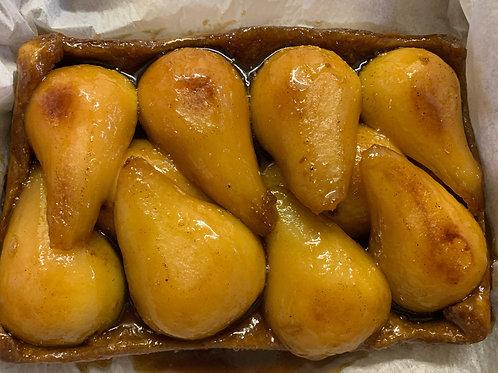 Organic Bosc Pear Tart Tatin