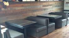 Custom benches for the new Qui Restaurant