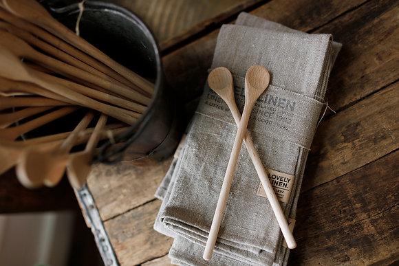 Long Wooden Teaspoon