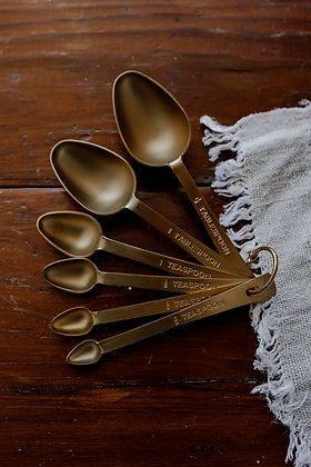 Brushed Brass Measuring Spoon Set