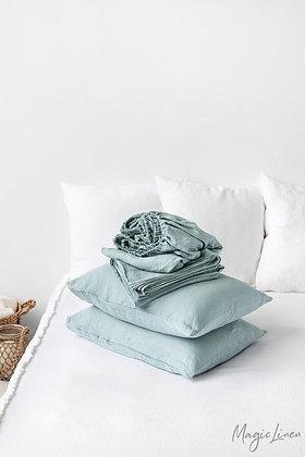 Magic Linen Sheet Set - Dusty Blue