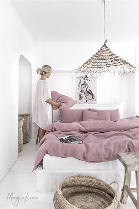 Magic Linen Duvet Set - Woodrose