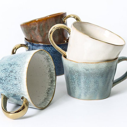 Gold Trim Ceramic Mug