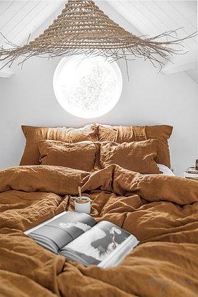 Magic Linen Duvet Set - Cinnamon