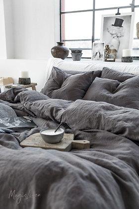 Magic Linen Duvet Set - Charcoal Grey