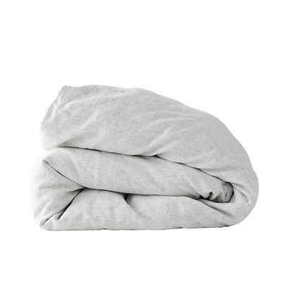 Pinstripe Linen Duvet Cover