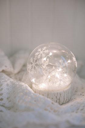 Snowflake Glass Elk Christmas Decoration