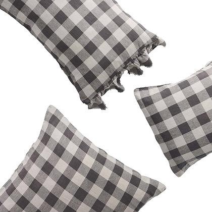 Licorice Gingham Pillowcases