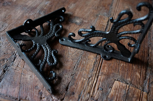 Cast Iron Octopus Wall Brackets