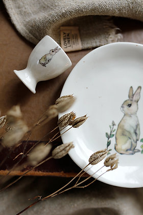 Bunny Ceramic Egg Cup/ Plate