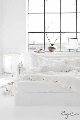 Magic Linen Sheet Set - White