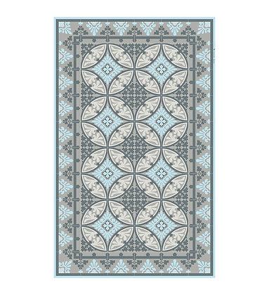 Vinyl Floor Mat - Beige/Blue