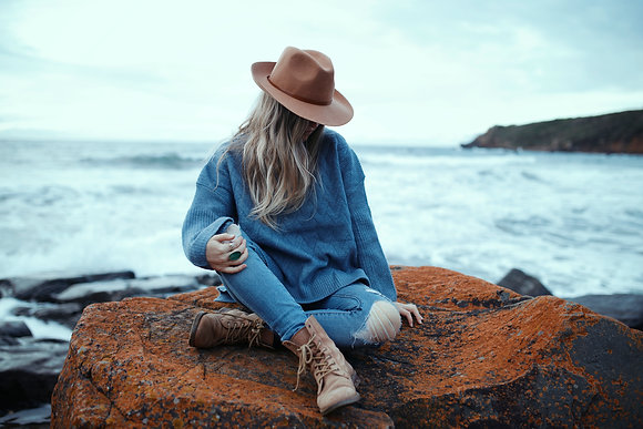 Cosy Blue Knit