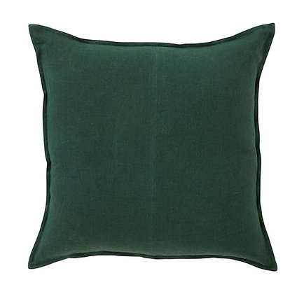 Forest Green Linen Cushion