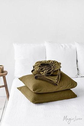 Magic Linen Sheet Set - Olive