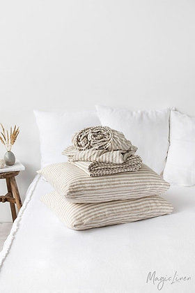 Magic Linen Sheet Set - Natural Stripe
