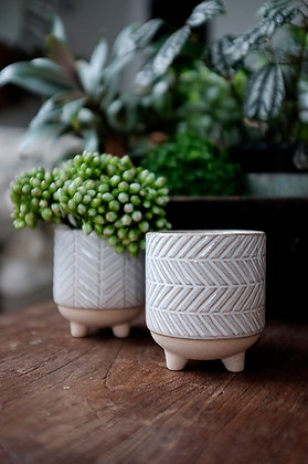 Small Footed Ceramic Pot