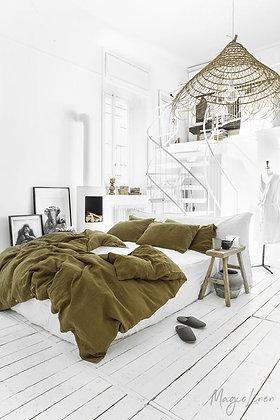 Magic Linen Duvet set  - Olive