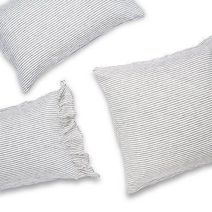 Charcoal Stripe Pillowcases