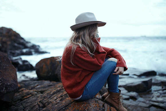 Rust Red Knit