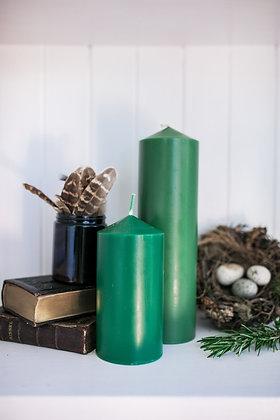 Green Pillar Candle