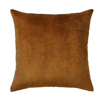 Ochre Velvet Cushion Cover