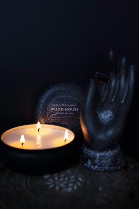 Wood House Candle Black