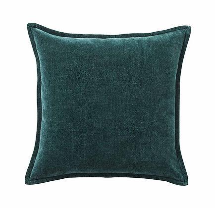 Vintage Velvet Evergreen Cushion Cover