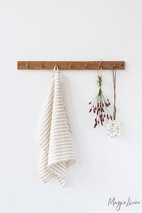 Magic Linen Tea Towel - Natural Stripe