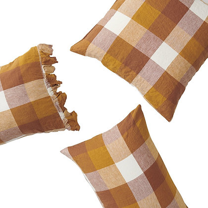 Society of Wanderers Biscuit Check Pillowcase Set