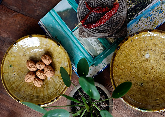 Moroccan Tamegroute Pottery - Ochre