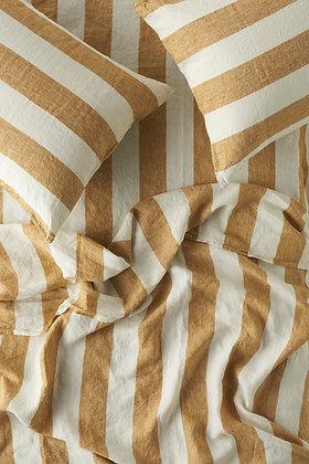 Society of Wanderers Turmeric Stripe Flat Sheet