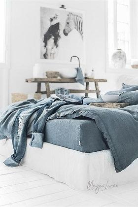 Magic Linen Duvet Cover - Grey Blue