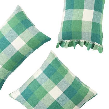 Society of Wanderers Apple Check Pillowcase Set