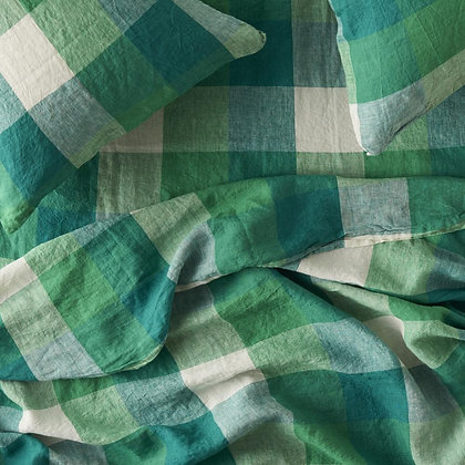 Society of Wanderers Apple Check Fitted Sheet