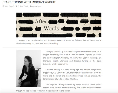 Start Strong With Morgan Wright - Interview on Afterwords
