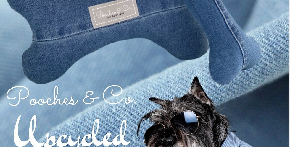 Pooches & Co. Signature Bone in Upcycled Denim - Large