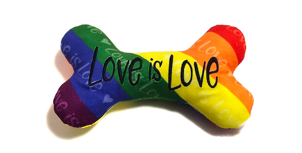 Love is Love Plush Bone Toy