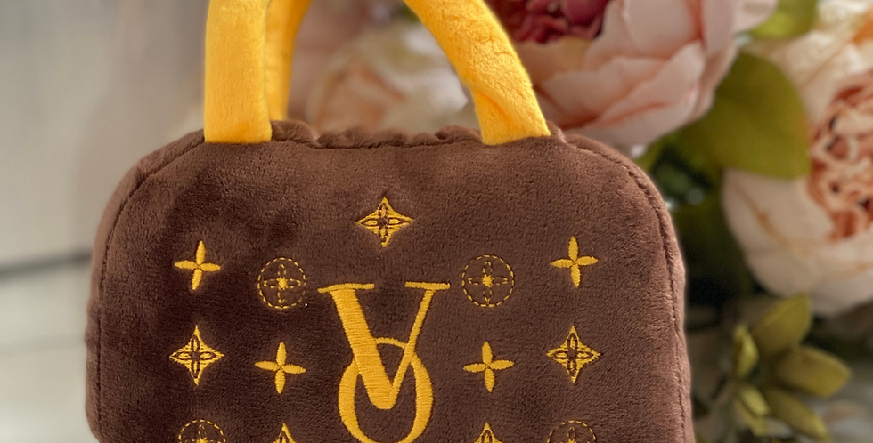 Poochy Vuiton Plush Handbag Dog Toy